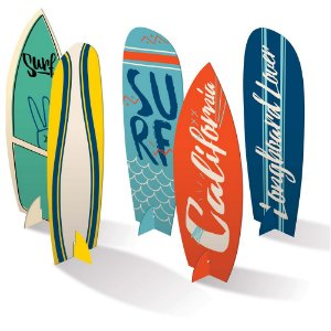 Decoração de Mesa Festa Surf Tropical - 04 unidades - Junco - Rizzo Festas
