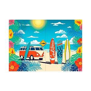 Painel Decorativo Festa Surf Tropical - 01 unidade - Junco - Rizzo Festas