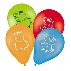 Balão Festa Peppa Pig - 25 unidades - Regina - Rizzo Festas