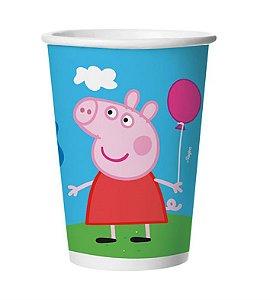 Copo de Papel Festa Peppa Pig 180ml - 08 unidades - Regina - Rizzo Festas