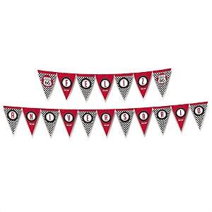 Faixa Feliz Aniversário Festa Garage - Cromus - Rizzo Festas