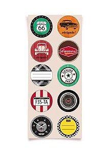 Adesivo Redondo para Lembrancinha Festa Garage - 30 unidades - Cromus - Rizzo Festas
