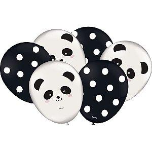 Balão Festa Panda- 25 unidades - Festcolor - Rizzo Festas