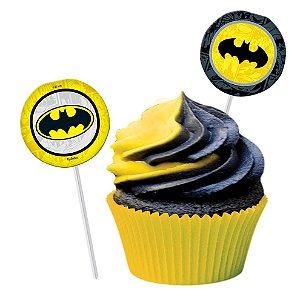 Topper para Docinhos Festa Batman Geek - 08 unidades - Festcolor - Rizzo Festas
