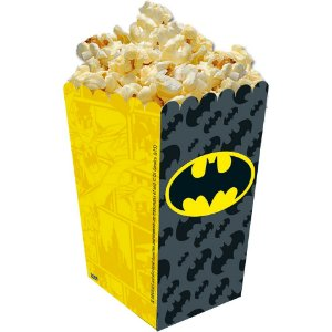 Caixa de Pipoca Festa Batman Geek - 08 unidades - Festcolor - Rizzo Festas