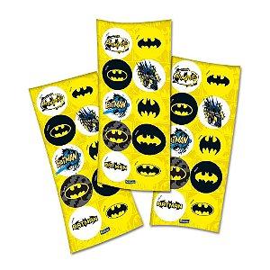 Adesivo Redondo para Lembrancinha Festa Batman - 30 unidades - Festcolor - Rizzo Festas