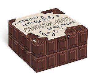 Caixa para 4 brigadeiros 8,5x8,5x3,5cm Chocolate - 10 unidades - Cromus - Rizzo Embalagens