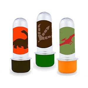 Mini Tubete Lembrancinha Festa Dinossauro 8cm 10 unidades - Rizzo Embalagens e Festas