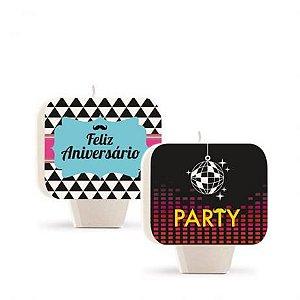 Vela Dupla Face Festa Keep Calm - Cromus - Rizzo Festas