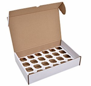 Caixa para MIni Cupcake Branca c/ Base 1 Unidade - 36x22x7cm - Rizzo Embalagens
