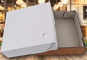 Caixa Para Transporte Branca - 1 Unidade 20x20x5cm - Rizzo Embalagens