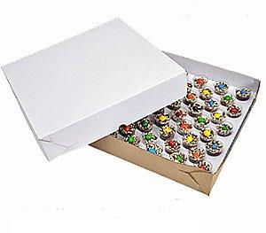 Caixa Para Transporte Branca - 1 Unidade 30x30x5cm - Rizzo Embalagens