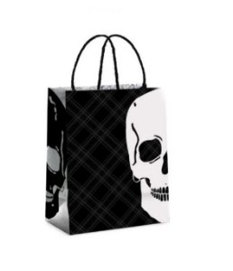 Sacola de Papel p Lembrancinha Festa Skull - 10 unidades - Cromus - Rizzo Festas
