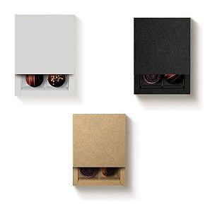 Caixa Quadrada com Luva para 4 Doces - Cromus Profissional - Rizzo Embalagens