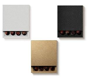 Caixa Luva Quadrada para 16 Doces - Cromus Profissional - Rizzo Embalagens