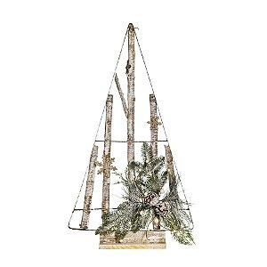 Árvore de Natal Desconstruída Marrom com Pinhas 75cm - 01 unidade - Cromus Natal - Rizzo Embalagens