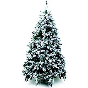 Árvore de Natal Mont Nevada Blanc Verde 2,40m - 01 unidade - Cromus Natal - Rizzo Embalagens