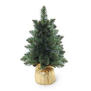 Mini Pinheiro Verde 40cm - 01 unidade - Cromus Natal - Rizzo Embalagens