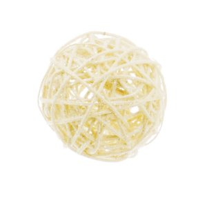 Bola Rattan Nude 20cm - 01 unidade - Cromus Natal - Rizzo Embalagens