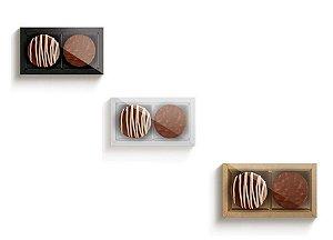 Caixa Para 02 Pão de Mel - Cromus Profissional - Rizzo Embalagens