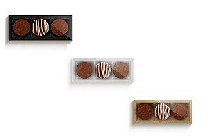 Caixa Para 03 Pão de Mel - Cromus Profissional - Rizzo Embalagens