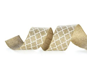 Fita Tecido Colméia Natural 6,3cm - 01 unidade 10m- Cromus Natal - Rizzo Embalagens