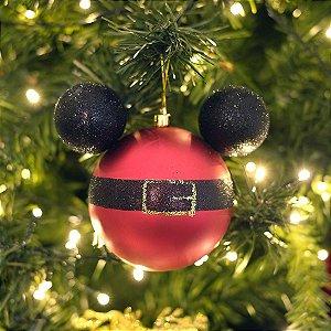 Kit Bolas Roupa Mickey  10cm - 02 unidades Natal Disney - Cromus - Rizzo Embalagens