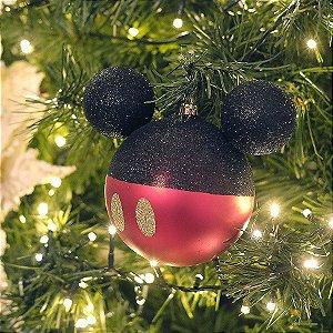 Kit Bolas Mickey 8cm - 04 unidades Natal Disney - Cromus - Rizzo Embalagens