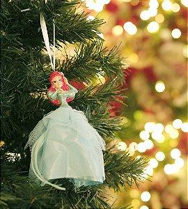 Enfeite para Pendurar Ariel Pequena Sereia 15cm - 01 unidade Natal Disney - Cromus - Rizzo Embalagens
