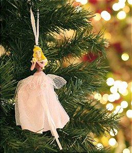 Enfeite para Pendurar Bela Adormecida 15cm - 01 unidade Natal Disney - Cromus - Rizzo Embalagens