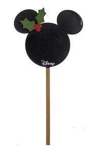 Pick Médio para Jardim para Decoração Mickey Sombra 35cm - 01 unidade Natal Disney - Cromus - Rizzo Embalagens