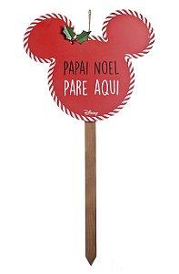 Pick Grande para Jardim para Decoração Mickey Pare Vermelho 90cm - 01 unidade Natal Disney - Cromus - Rizzo Embalagens
