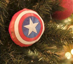 Enfeite para Pendurar Escudo Capitão América 10cm - 01 unidade Natal Disney - Cromus - Rizzo Embalagens