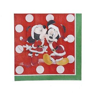 Guardanapo de Papel Mickey e Minnie Mouse - 20 folhas Natal Disney - Cromus - Rizzo Embalagens