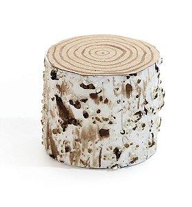 Toco de Árvore Marfim 7cm - 01 unidade - Cromus Natal - Rizzo Embalagens