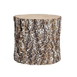 Tronco de Árvore Marrom Nevado 20cm - 01 unidade - Cromus Natal - Rizzo Embalagens