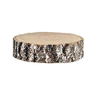 Bolacha de Madeira Marrom Nevado 20cm - 01 unidade - Cromus Natal - Rizzo Embalagens