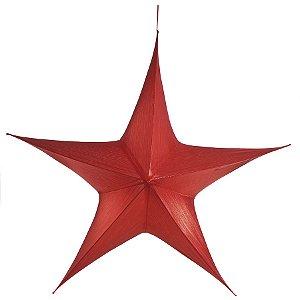 Estrela Aérea Decorativa Vermelho 110cm - 01 unidade - Cromus Natal - Rizzo Embalagens