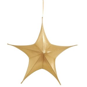 Estrela Aérea Decorativa Ouro 110cm - 01 unidade - Cromus Natal - Rizzo Embalagens