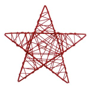 Estrela Rattan Vermelho 30cm - 01 unidade - Cromus Natal - Rizzo Embalagens
