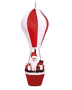 Noel Decorativo no Balão 110cm - 01 unidade - Cromus Natal - Rizzo Embalagens
