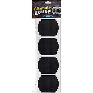 Etiqueta Adesiva Lousa Preta Modelo 1  - 08 unidades - Rizzo Embalagens