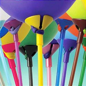 Suporte Balões Pega Balão 10 unidades KLF - Rizzo Embalagens e Festas