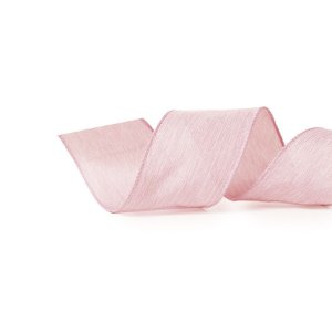 Fita Tecido Rosa 6,3cm - 01 unidade 10m- Cromus Natal - Rizzo Embalagens