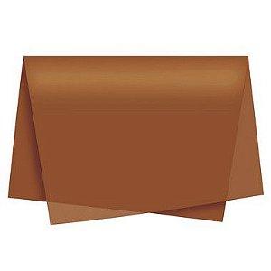 Papel de Seda Marrom - 50x70cm - Rizzo Embalagens