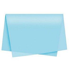 Papel de Seda Azul Claro - 50x70cm - Rizzo Embalagens