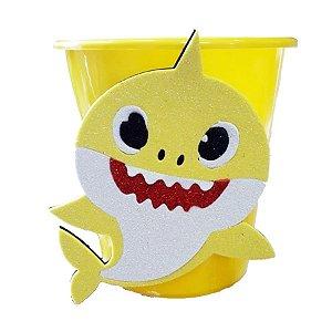 Baldinho Pipoca Amarelo Festa Baby Shark - 01 unidade - Rizzo Festas