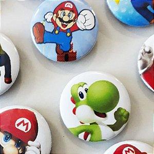 Bottom para Lembrancinha Festa Super Mario - 12 unidades - Rizzo Embalagens