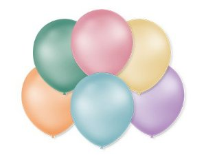 Balão Perolado Tons Pastéis São Roque - Rizzo Embalagens e Festas
