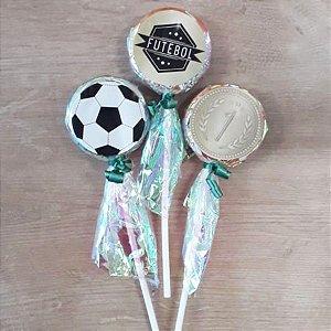 Pirulito Lembrancinha Festa Futebol - 10 unidades - Rizzo Festas